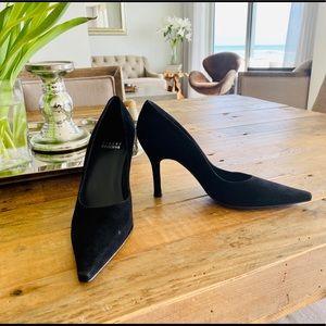 ✨ Stuart Weitzman Black Suede Pump Heels 5 1/2